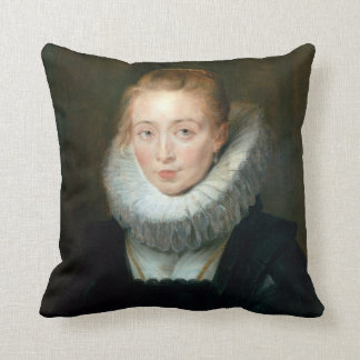 Portrait Maid Honour Infanta Isabella Rubens Paul Throw Pillow