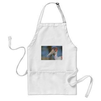 Portrait marabou stork adult apron