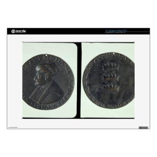 "Portrait medal, obverse depicting Sultan Mehmed II Decal For 15"" Laptop"
