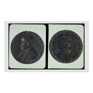 Portrait medal, obverse depicting Sultan Mehmed II Poster