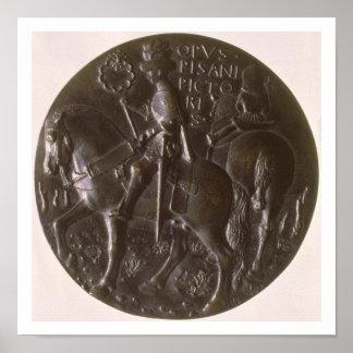 Portrait medal, reverse depicting Gianfrancesco Go Poster