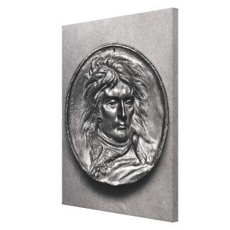 Portrait medallion of General Bonaparte  c.1830 Canvas Print