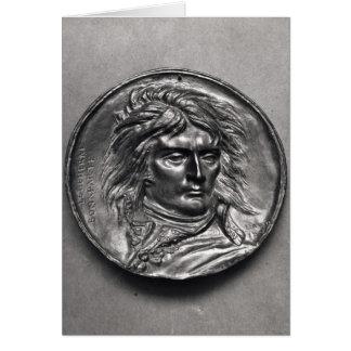 Portrait medallion of General Bonaparte  c.1830 Card