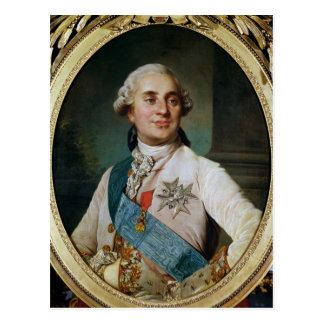 Portrait Medallion of Louis XVI  1775 Postcard