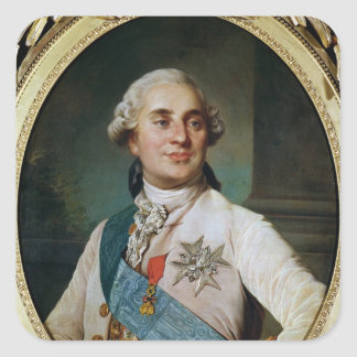 Portrait Medallion of Louis XVI  1775 Square Sticker