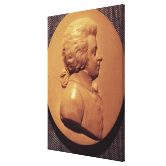 Portrait medallion of Wolfgang Amadeus Mozart Canvas Print