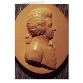 Portrait medallion of Wolfgang Amadeus Mozart Card