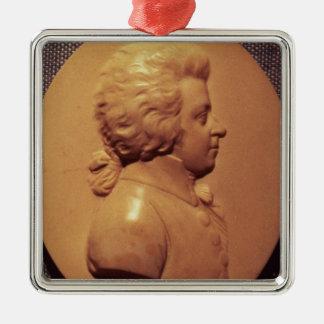 Portrait medallion of Wolfgang Amadeus Mozart Metal Ornament