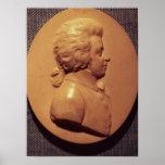 Portrait medallion of Wolfgang Amadeus Mozart Poster