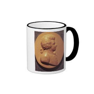 Portrait medallion of Wolfgang Amadeus Mozart Ringer Mug