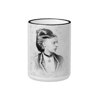 "PORTRAIT ""MICHELLE"" (1870s) Ringer Coffee Mug"