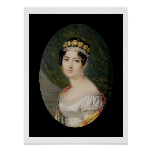 Portrait Miniature of the Empress Josephine (1763- Posters