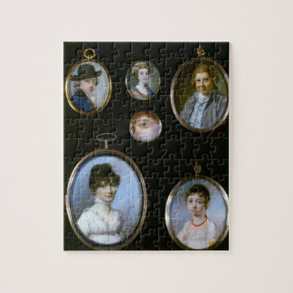 Portrait miniatures, from LtoR and TtoB: Sir Thoma Jigsaw Puzzle