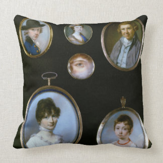 Portrait miniatures, from LtoR and TtoB: Sir Thoma Pillow