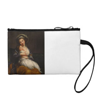 Portrait Mother Holding Child Coin Purse