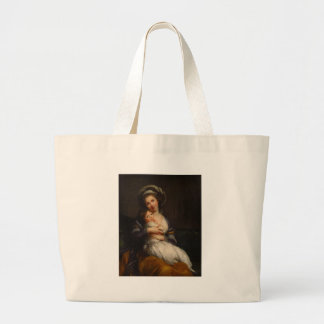 Portrait Mother Holding Child Large Tote Bag