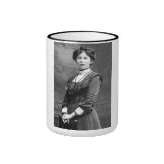 "PORTRAIT ""NINA"" (1900s) Ringer Coffee Mug"