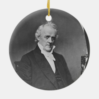 Portrait of 15th U.S. President James Buchanan Ceramic Ornament