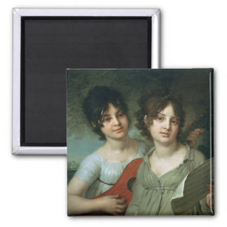 Portrait of A. and V. Gagarin, 1802 Magnet