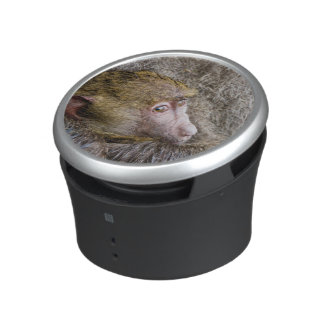 Portrait Of A Baby Olive Baboon (Papio Anubis) Bluetooth Speaker