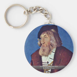 Portrait Of A Bearded Man By Baldung Hans Key Chains