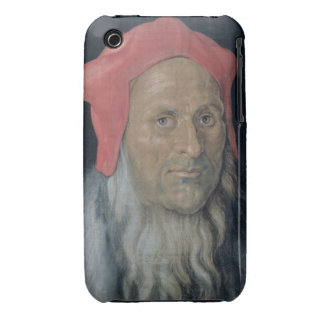 Portrait of a Bearded Man in a Red Hat, 1520 (oil iPhone 3 Case-Mate Case