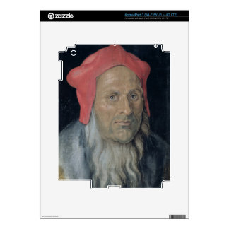 Portrait of a Bearded Man in a Red Hat, 1520 (oil Skins For iPad 3