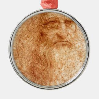Portrait Of A Bearded Man Metal Ornament