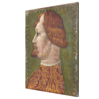 Portrait of a Bearded Nobleman, possibly Gian Gale Stretched Canvas Print