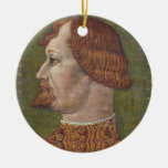 Portrait of a Bearded Nobleman, possibly Gian Gale Christmas Tree Ornaments