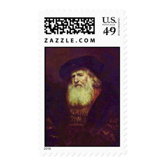 Portrait Of A Bearded Old Man By Rembrandt Postage Stamps