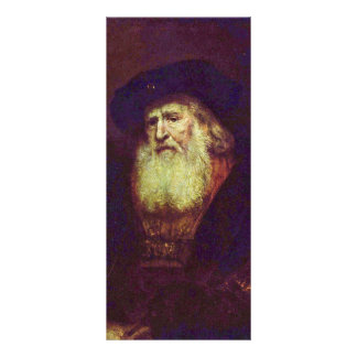 Portrait Of A Bearded Old Man By Rembrandt Personalized Rack Card