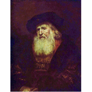 Portrait Of A Bearded Old Man By Rembrandt Statuette