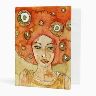 Portrait of a beautiful girl mini binder