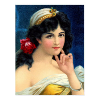 Portrait of a Beautiful Woman Postcard