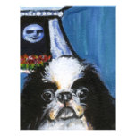 Portrait of a black Japanese chin Flyers