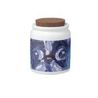 Portrait of a Boston Terrier Candy Dish
