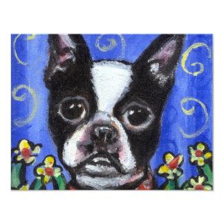Portrait of a Boston Terrier Card