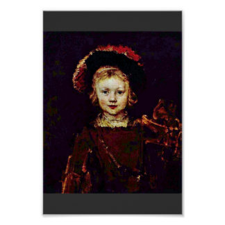 Portrait Of A Boy (Titus Rembrandt'S Son?) Poster