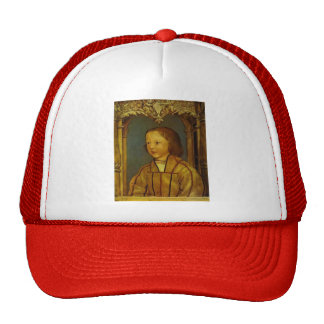 Portrait of a Boy with Blond Hair by Hans Holbein Mesh Hat