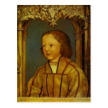 Portrait of a Boy with Blond Hair by Hans Holbein Postcard