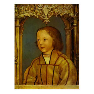 Portrait of a Boy with Blond Hair by Hans Holbein Post Cards