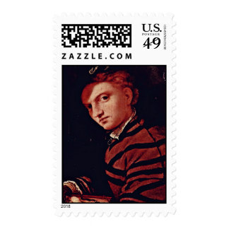 Portrait Of A Boy With Book By Lotto Lorenzo (Best Postage Stamps