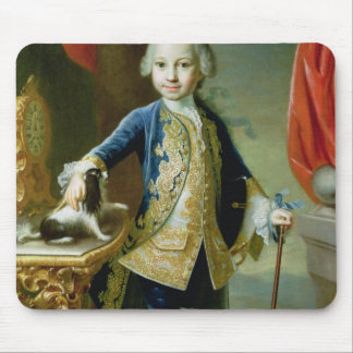 Portrait of a Boy with Pet Spaniel, 18th century Mouse Pad