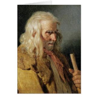 Portrait of a Breton Peasant, 1834 Greeting Card