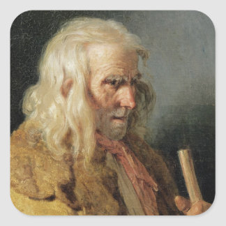 Portrait of a Breton Peasant, 1834 Square Sticker