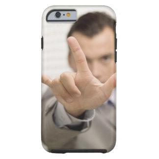 Portrait of a businessman making a hand sign tough iPhone 6 case