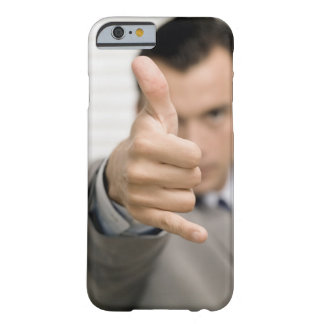 Portrait of a businessman making a thumbs up barely there iPhone 6 case