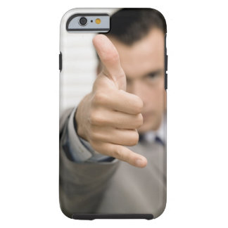 Portrait of a businessman making a thumbs up tough iPhone 6 case