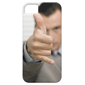 Portrait of a businessman making a thumbs up iPhone SE/5/5s case